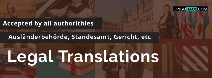 Juristische Übersetzungen lingohaus marzahn