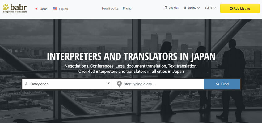 babr interpreters translators japan