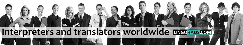 El servicio de reserva de servicios de traductor a nivel mundial.