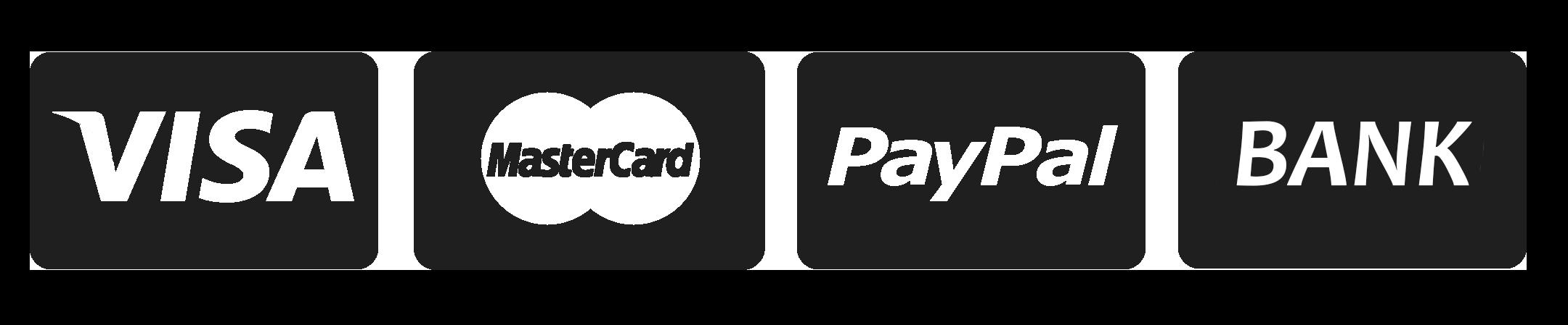 visa master paypal bank transparent